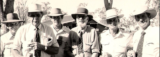 L to R: The late Graham Adams,